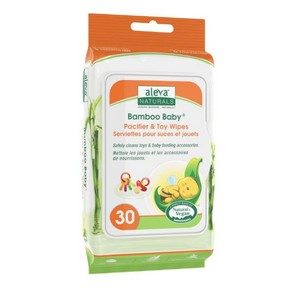 Aleva - Bamboo Baby Pacifier & Toy Wipes