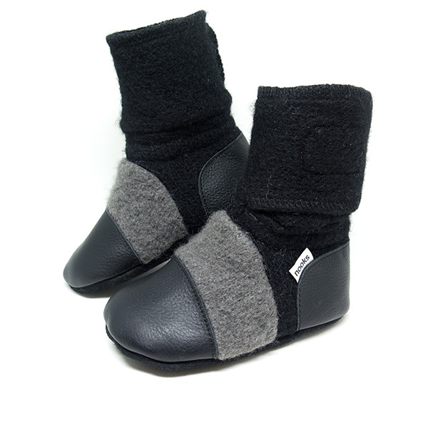 db5d5a10e54 Nooks Design - Felted Wool Booties - Eclipse - Nest Family Store