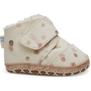 5b2112bdc47 TOMS -Pale Blush Party Dots Tiny TOMS Cuna Crib Shoes - Nest Family ...