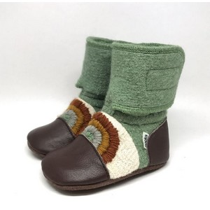 4c09f0a1ded Nooks Design - Rainbow Embroidered Wool Booties - Good Vibes - Nest ...