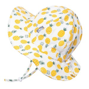 Jan /& Jul Sunhat for Toddler Girl with Strap M: 6-24 Months, Yellow Pineapple Cute Beach Hat