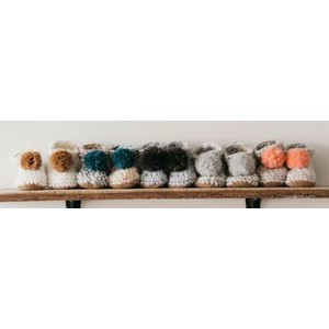 Josiah and Co. - Leather Booties with Pom