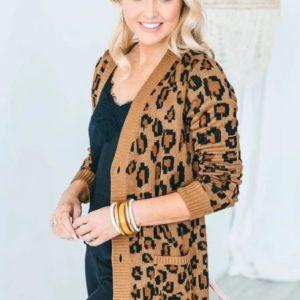 Beau Hudson - Women's Chunky Leopard Knit Cardigan **FINAL SALE**