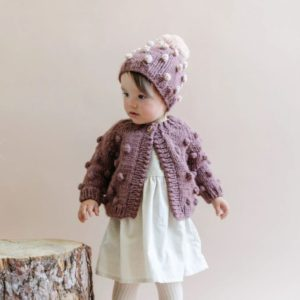 The Blueberry Hill - Popcorn Knit Hat