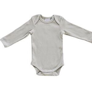 Mebie Baby - Organic Cotton Long Sleeve Ribbed Bodysuit