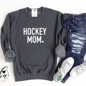 Blonde Ambition - Hockey Mom Cozy Crew Neck Sweater**FINAL SALE**