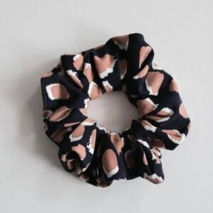 Loose Threads Co - Leopard Navy/Tan Scrunchie