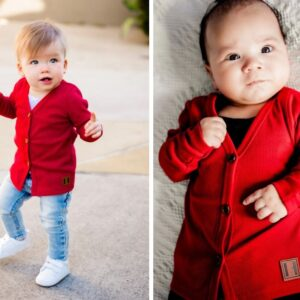 Beau Hudson - Baby Cardigan - Chilli Red