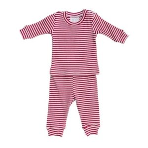 Mebie Baby - Red & White Holiday Ribbed Two-piece Set