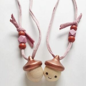 Coral + Cloud - Acorn Necklace - Copper - **FINAL SALE**
