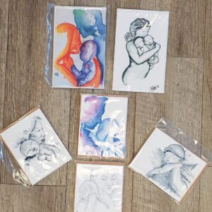 Paintings by Alaina Sobie - Assorted Greeting Cards - Blank