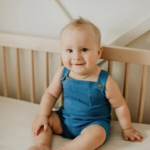 Loved Baby - Organic Muslin Overall in Pacific