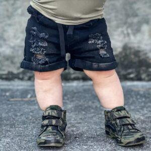 Little Bipsy - Distressed Denim Shorts - Black