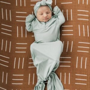 Mebie Baby - Knot Gown in Sage